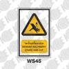 ป้ายระวังเครื่องเจาะ WS45