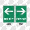 ป้าย FIRE EXIT SS56-SS57