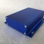 กล่องอลูมิเนียมสีฟ้าสดใส ขนาด 25X84X100 mm