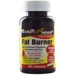 Mason Naturals, Fat Burner with Chromium Picolinate, L-Carnitine and Iron, 60 Capsules เร่งการเผาผลาญไขมันใหม่ได้มากกว่าปกติถึง ออกฤทธิ์ ได้ตลอดวัน แม้ในขณะคุณหลับก็สามารถ
