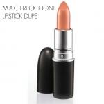 MAC Lustre Lipstick # Freckletone 3g. ลิปเนื้อครีมประกายสีโปร่ง มอบความรู้สึกนุ่มนวล สีสันแจ่มจรัส สร้างสรรค์ริมฝีปากมอบสีเด่นชัดแนบแน่นบนริมฝีปาก ในขณะเดียวกันก็มอบความชุ่มชื้น เผยริมฝีปากเนียนนุ่ม เย้ายวน อิ่มเอิบ ชุ่มชื้น เปล่งประกายเงางาม