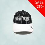 หมวกทรงเบสบอล สำหรับเด็ก ปัก New York สีดำ ขนาดศีรษะ 47-54 ซม สามารถปรับขนาดได้ เหมาะสำหรับน้อง ๆ วัย 2-8 ขวบ มี 3 สีให้เลือก