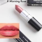 Mac Cremesheen Lip Stick # Morning Rose 3g. ลิปเนื้อครีมประกายสีโปร่ง สี Morning Rose มอบความรู้สึกนุ่มนวล สีสันแจ่มจรัส สร้างสรรค์ริมฝีปากมอบสีเด่นชัดแนบแน่นบนริมฝีปาก ในขณะเดียวกันก็มอบความชุ่มชื้น เผยริมฝีปากเนียนนุ่ม เย้ายวน อิ่มเอิบ ชุ่มชื้น เปล่งประ
