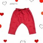 กางเกงก้นป่องสีแดง ลายหัวใจ