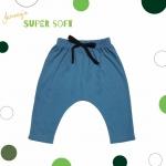 กางเกงก้นป่อง Super Soft สีฟ้า