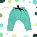 กางเกงก้นป่องสีเขียว
