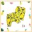 ชุดเซตลายสับปะรด สีเหลือง เนื้อผ้า Cotton นุ่มสบาย ระบายอากาศได้ดี