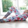 กางเกงลายดอกไม้ leggings สำหรับออกกำลังกาย โยคะ พิลาทิส ฯลฯ