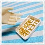 (พร้อมส่งหมดค่ะpre-order ค่ะ) แพค10 ชิ้นค่ะที่ปรับระดับสายสีทองใช้กับชุดตุ๊กตา ขนาด 7 X8 mm