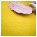 หนังเทียมสีเหลือง แบ่งขาย 1 หน่วย = ขนาด1/4 หลา : 45X 65 cm