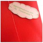 ผ้าหนังสีแดงสด แบ่งขาย 1 หน่วย = ขนาด1/4 หลา : 45X 65 cm