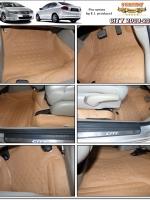 พรมปูพื้นรถยนต์ CITY 2008-2013 รุ่น PROMAT ลายหนังแท้ รีดขอบ สีชามัวร์