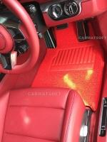 พรมดักฝุ่นไวนิล PORSCHE 911 CareraS รุ่น VINYL MAT เย็บขอบ สีแดง