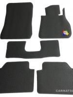 ยางปูพื้นรถยนต์ BMW SERIES 3 E90 รุ่น MINI MAT กระดุมเม็ดเล็กสีเทา