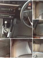 พรมปูพื้นรถยนต์ ALL NEW  ALTIS 2014 ลายกระดุม สีเทา เต็มคัน เข้ารูป 100%