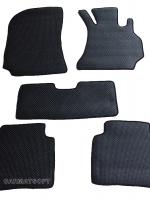 ยางปูพื้นรถยนต์ BENZ E-CLASS W212 รุ่น MINI MAT กระดุมเม็ดเล็กสีดำ