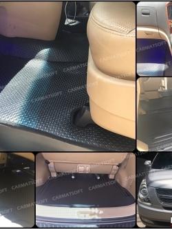 ยางปูพื้นรถยนต์ HYUNDAI H-1 รุ่น MINI MAT กระดุมเม็ดเล็ก สีดำ เต็มคัน
