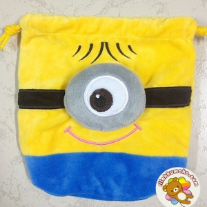 ถุงผ้าหูรูด มินเนี่ยน Minion 1ตา