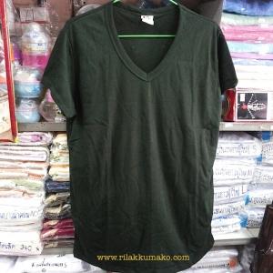 เสื้อยืด ร.ด. คอวี ไม่สกรีน (สั่งซื้อ12ตัว เหลือตัวละ 80บาท)