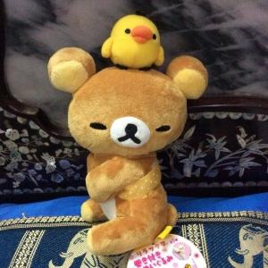 ตุ๊กตาหมี ริลัคคุมะ ลูกเจี๊ยบเกาะหัว san-x ขนาด 8 นิ้ว