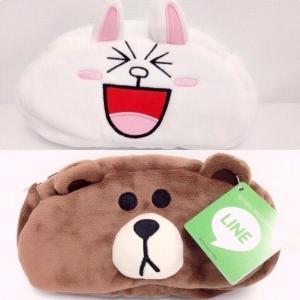 กระเป๋าดินสอ สลับได้2ด้าน ลายหมีบราวน์และกระต่ายโคนี่