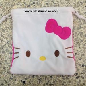 ถุงผ้าหูรูด คิตตี้ Kitty