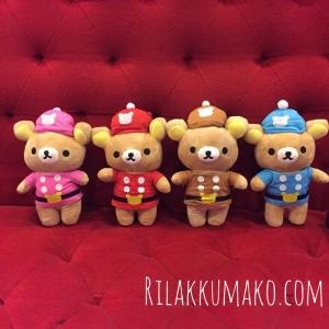 ตุ๊กตาหมี ริลัคคุมะ Rilakkuma 9 นิ้ว เซ็ต 4 ตัว