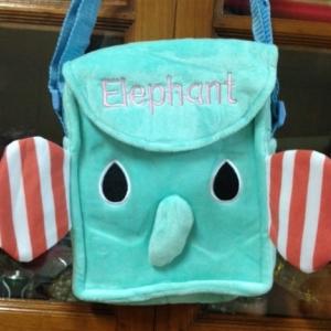 กระเป๋าสะพายข้าง ลาย ช้าง Mouton