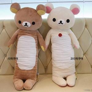 หมอนข้าง ริลัคคุมะ Rilakkuma หมีสีน้ำตาล มีรุ่น: รุ่นผอม 100cm, รุ่นผอม80cm, รุ่นยาวพิเศษ 108cm และ รุ่นลิขสิทธิ์ไทย 76cm