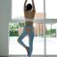 กางเกงลายส้ม leggings สำหรับออกกำลังกาย โยคะ พิลาทิส ฯลฯ thumbnail 7