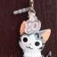 ที่ห้อยโทรศัพท์มือถือพร้อมจุกเสียบป้องกันฝุ่นไอโฟน (แมวชิ) สีเทา thumbnail 1