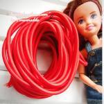 ยางยืดแบบกลมสีแดง. ขนาด 0.3 cm ราคาขายต่อ 1 หลา