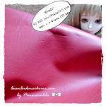 LH14 : ผ้าหนังสีแดงเลือดหมู แบ่งขาย 1 หน่วย = ขนาด1/4 หลา : 45X 65 cm