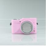 เคสซิลิโคน Panasonic GF9 สีชมพูอ่อน