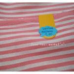 ผ้าcotton ลายทางเล็กสีชมพู ซื้อในตลาดไทยค่ะ1จำนวน= 1/4เมตร (50x55) ลายทางขนาด 1/2 cm
