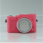 เคสซิลิโคน Panasonic GF9 สีชมพูเข้ม