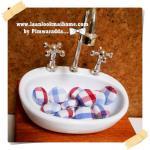 HMB1-5 : กระดุมปั๊มผ้า cotton 100% handmade ขนาด 1 cm- (1 แพคบรรจุ 12เม็ด )