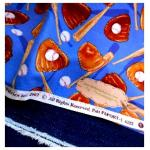ผ้าcotton สั่งจาก USA ลายbaseball set 27x45 cm+ผ้ายีนส์ขนาด 30x50cm สั่งหลายจำนวนผ้าต่อกันค่ะไม่ตัดแยกค่ะ