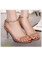Pre รองเท้าส้นสูง คัทชู แฟชั่น ราคาถูก มีไซด์ 34-39 สีแชมเปญ