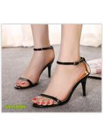 Pre รองเท้าส้นสูง คัทชู แฟชั่น ราคาถูก มีไซด์ 34-39 สีดำ