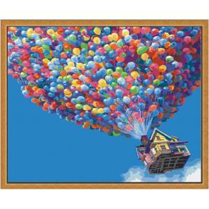 """MQ064 ภาพระบายสีตามตัวเลข """"บ้านลูกโป่งหลากสี"""""""
