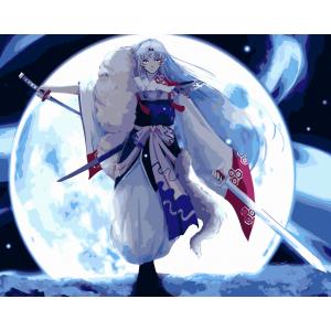 """MG673 ภาพระบายสีตามตัวเลข """"ปีศาจจิ้งจอกหิมะรูปงาม"""""""