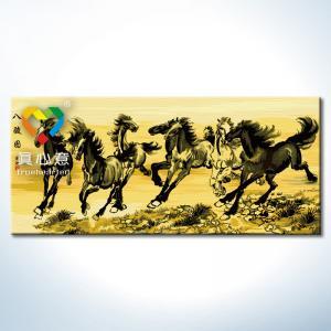"""TN003 ภาพระบายสีตามตัวเลข """"ม้าแปดตัวพู่กันจีน"""""""