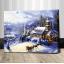 "TG357 ภาพระบายสีตามตัวเลข ""บ้านน้อยกลางหิมะ"" thumbnail 1"