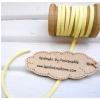 เชือกหนังแบน กว้าง 3 mm หนา 2 mm ราคาต่อ 1 หลา - โทนสีเหลือง