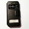 เคสไอโฟน 5/5S/SE ฝาพับรับสาย สีดำ