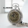 นาฬิกาพกกลไกไขลาน ภาพลงรักปิดทองลายมังกรทองมงคล