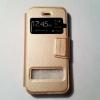 เคสไอโฟน 5/5S/SE ฝาพับรับสาย สีทอง