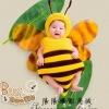 ผึ้งน้อย : ชุดแฟนซีสตูดิโอ / Bee สำหรับ 3 เดือน - 1 ขวบ / ชุด+หมวก+ปีก ทั้งเซ็ต