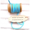 LCB8 : เชือกหนังแบน กว้าง 3 mm หนา 2 mm ราคาต่อ 1 หลา - โทนสีฟ้า 2